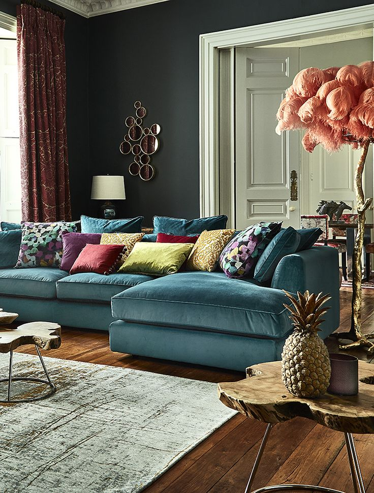 The striking Harrington Large Chaise Sofa is a fantastic addition to a home looking for something a little different. Upholstered in a choice of stylish colours, it features a contemporary shape with elegantly tapered arms and a cushion back for an informal feel.