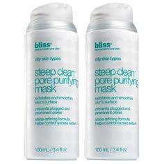 Bliss Steep Clean Pore Purifying Mask Set of 2   Mask Set - Blissworld