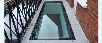 Contemporary walk on rooflight.