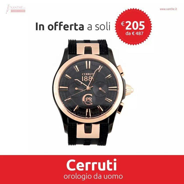 #xanthe #shopping #style #glam #mood #fashion #watch #picoftheday #cerruti #pin #sell #buy www.xanthe.it