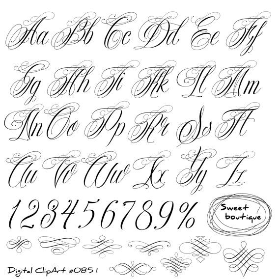Handwritten alphabet, Calligraphy Alphabet clip art, Calligraphy clip art, Calligraphic clipart, Digital alphabet, Digital calligraphy 0851