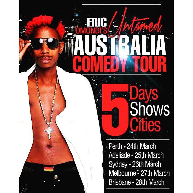 Eric Omondis Australia tour