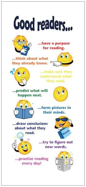 Reading Strategies poster: Good Readers Posters, Readers Ideas, Reading Strategies Posters, Cards Photo, Picture-Black Posters, Racks Cards, Reading Posters, Education Reading Good Readers, Readers Anchors