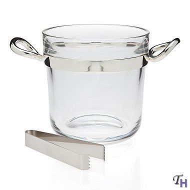 Godinger Glass Ice Bucket with Tongs >>> Visit the image link more details.