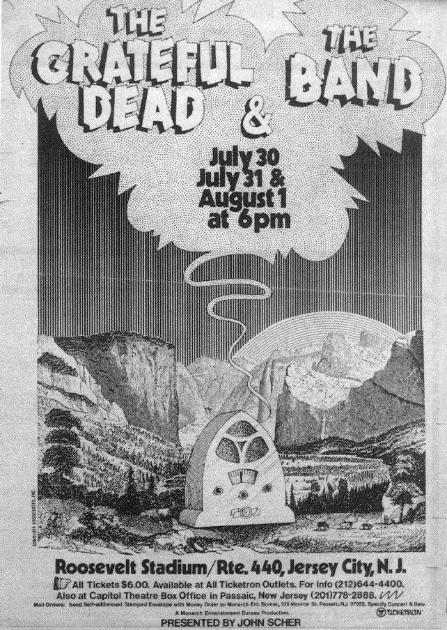 31.7.-1.8.1973; the grateful dead; usa, jersey city, roosevelt stadium; (db)