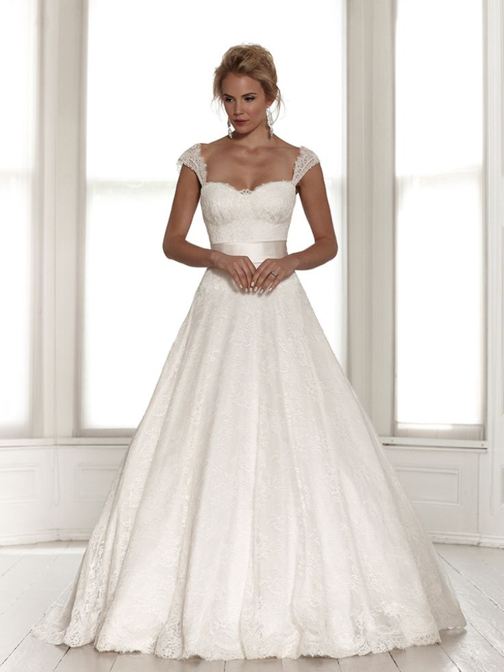 This is pretty how it's a ball gown and with the lace