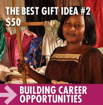 Best Gifts aren't gifts that will be used up and forgotten after the holidays.  With Crossroads' support, our partners increased their job creation by 61 per cent over last year through innovative entrepreneurial programs in Mali and Senegal!