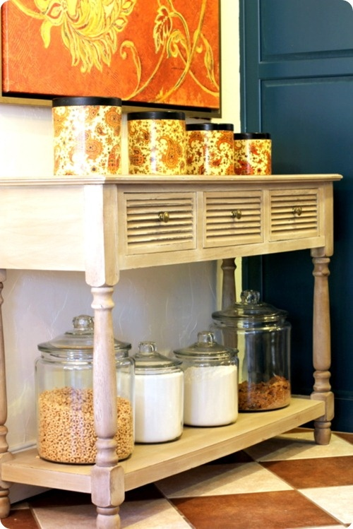 Love This Table From Hobby Lobby. I Need It For U0027jar Pantryu0027 Storage