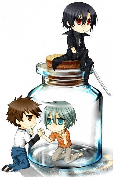 Tags: Anime, Nitro+CHiRAL, Togainu no Chi, Akira (TNC), Keisuke (TNC), Shiki (TNC), Bottle