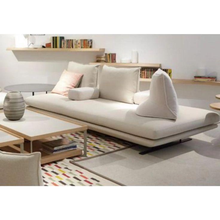 Contemporary White Leather Sofa in 2021   White leather sofas, Leather sofa, Sofa