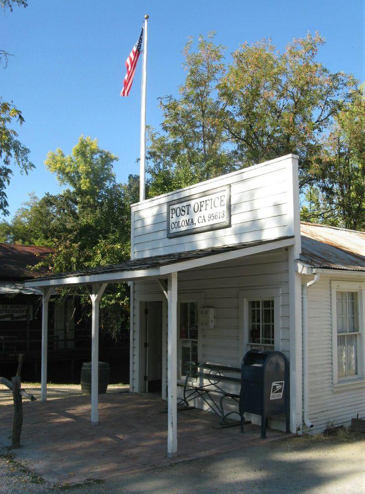 California Landmarks - El Dorado County - Coloma - Marshall Gold Discovery State Historic Park - Post Office