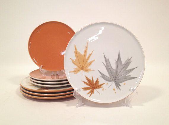 Ben Seibel Harvest Time, Informal True China by Iroquois / 8-Piece Set / Mid Century Dinnerware