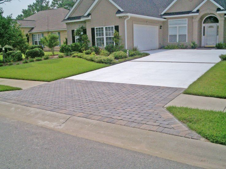 22 best driveways by sunshine hardscape images on for Driveway apron ideas