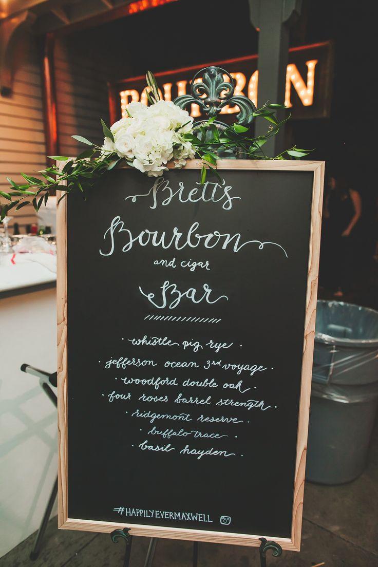Bourbon Bar Board, Chalkboard, Chalkpaint  Christina Logan Design