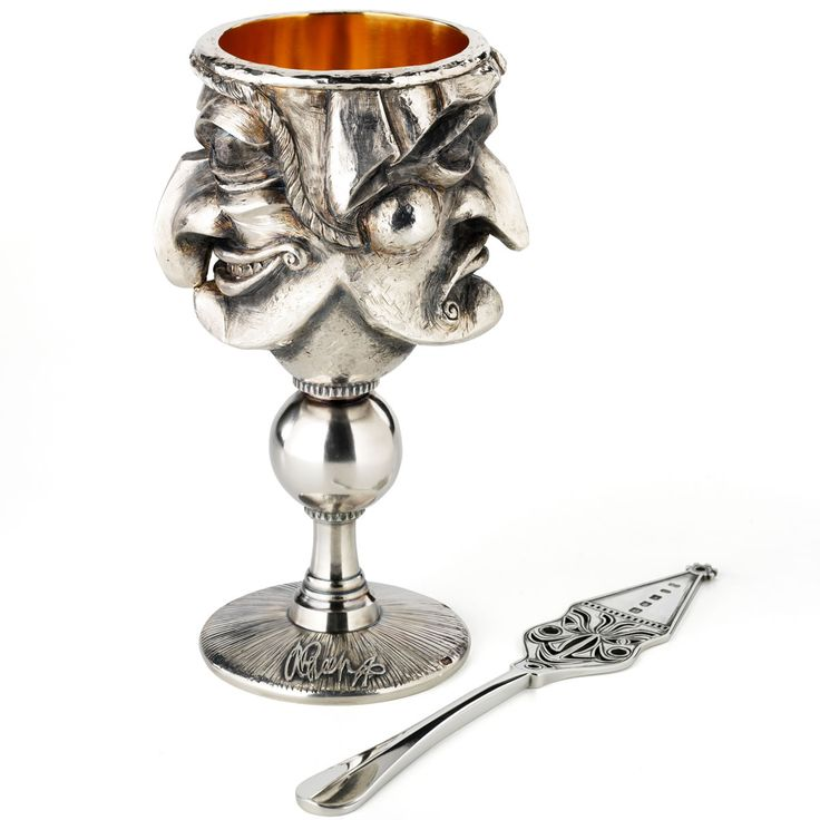 Alexander McQueen designed this goblet which was made by silversmith Graham Stewart, it weighs a staggering 2.4 kgs!