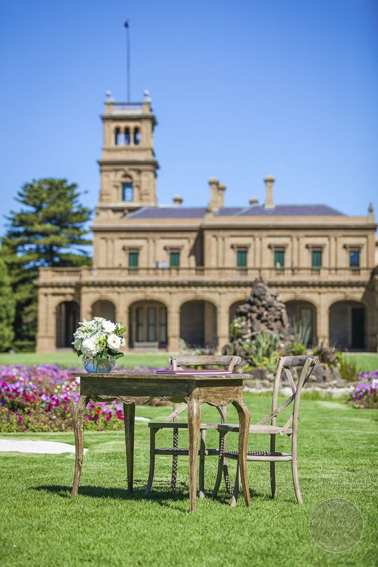 Rustic themed signing table   Werribee Mansion   Concepts & Styling by One Wedding Wish