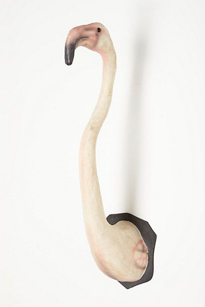 Handmade Flamingo Bust  #anthropologie