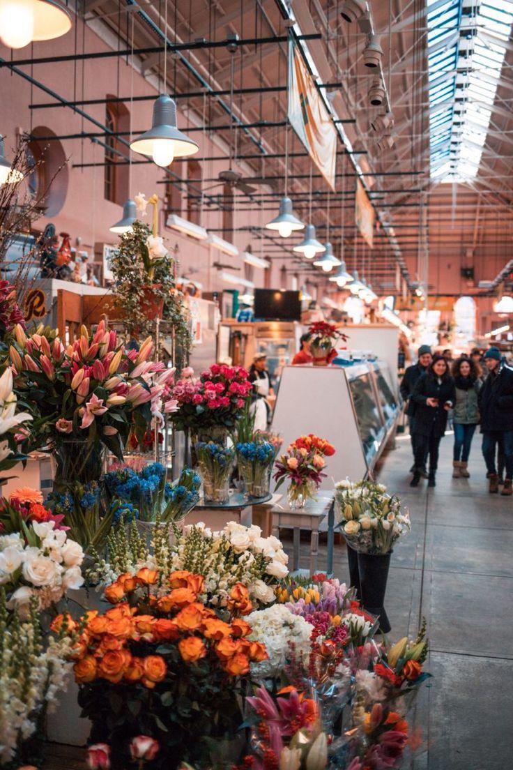 Flower shop inside the eastern market in washington dc