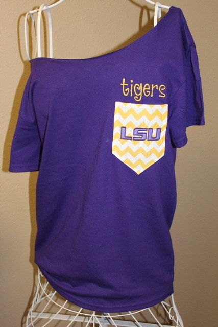 Hey, I found this really awesome Etsy listing at http://www.etsy.com/listing/152991684/lsu-tigers-frocket-pocket-off-the LSU