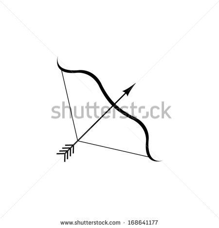 Bow And Arrow - Vector Icon - 168641177 : Shutterstock