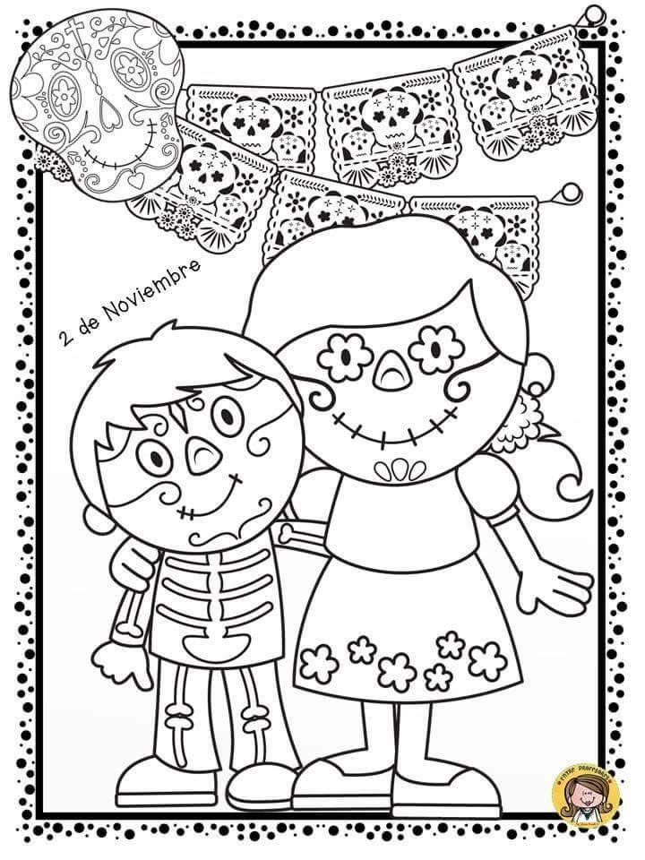 Dibujos Para Colorear El Dia De Los Muertos 1 Dia De Los