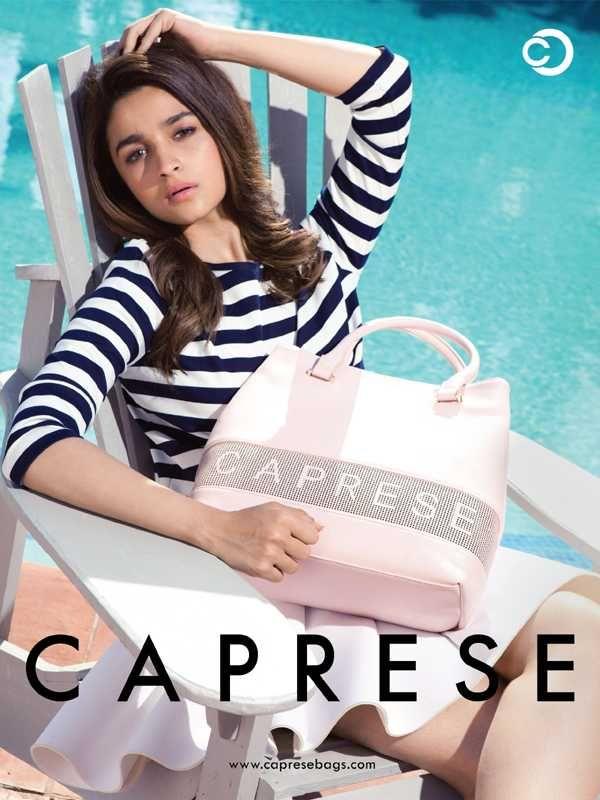 Alia Bhatt Stunning Photoshoot for Caprese Bags Spring Summer 2015