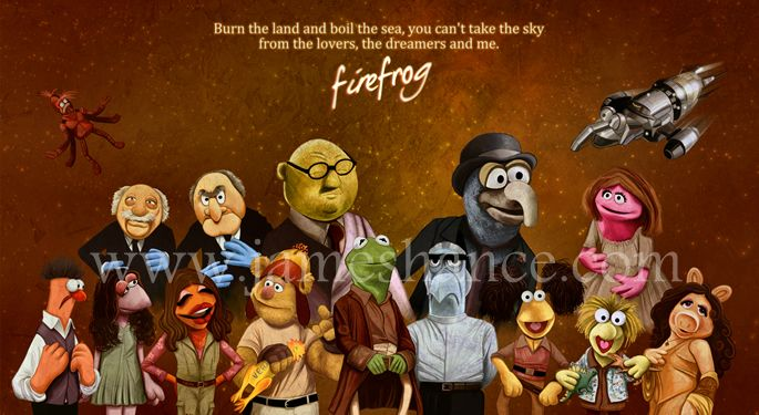 'Firefrog' - James Hance... seriously, how much do I LOVE this guy's art???: Geek, Firefly Serenity, Fireflies, Firefrog, Favorite Things, Awesome, Firefly Muppets, Muppet Firefly, The Muppets