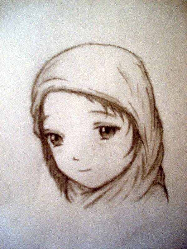 Muslim Little Girl in Veil
