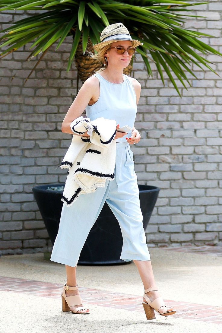 Diane Kruger in a 3X1 top and trousers.
