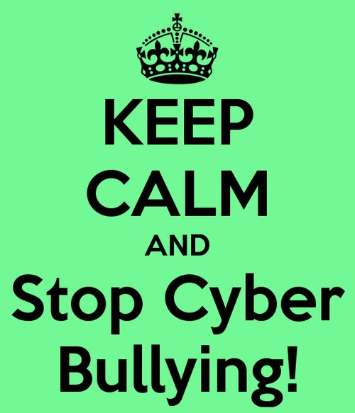 Stop cyber-bullying..