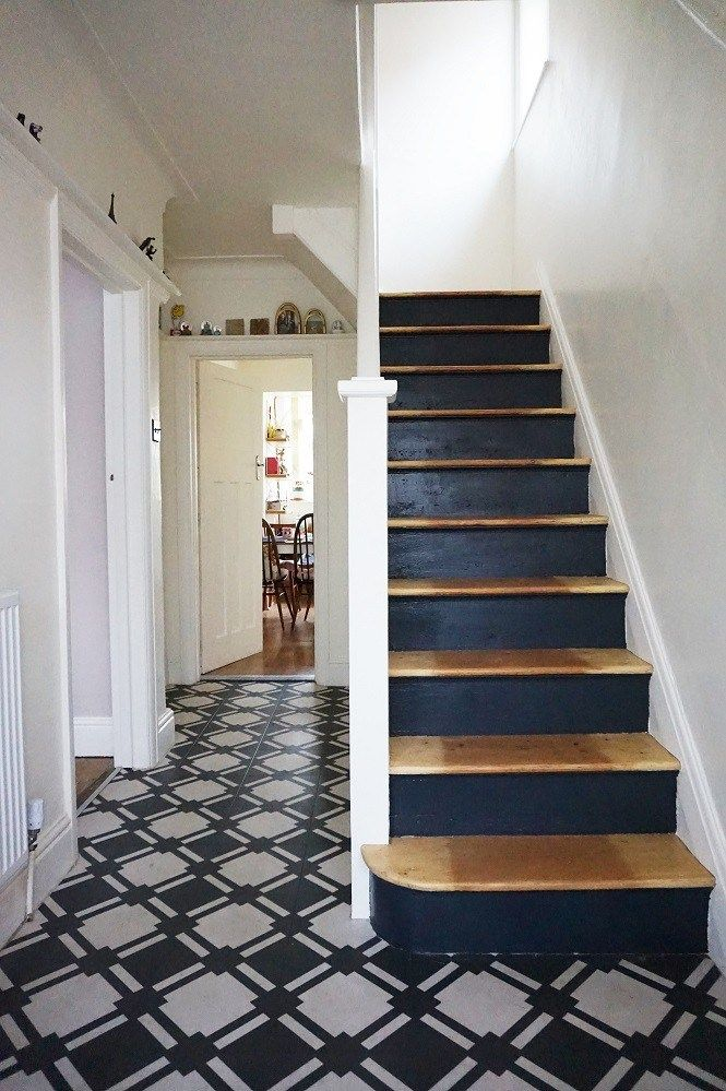 Staircase Makeover Using Black Paint Staircase Makeover Painted