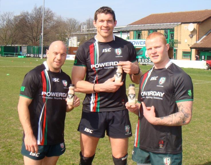 Paul Hodgson, Nick Kennedy and Tom Homer - London Irish