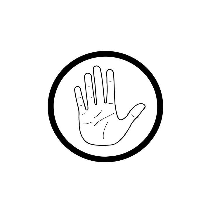 Stop Hand Sign Traffic Vinyl Wall Art