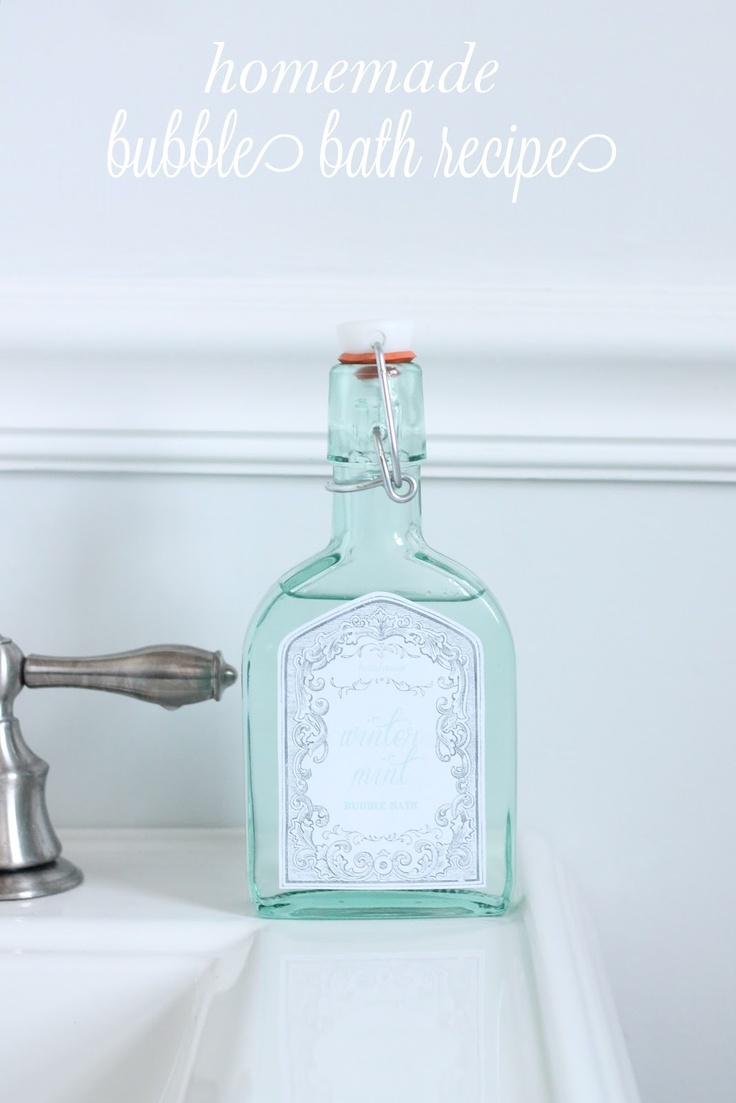 Homemade Bubble Bath Recipe