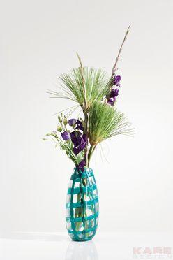 Vase Mesh Teal 31cm