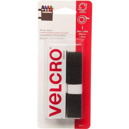 Velcro Brand Sticky Back, 24 inch x 3/4 inch Tape, Black