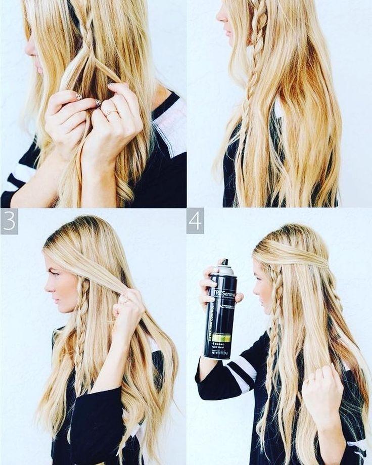 Trenzas hippies para cabello largo tutorial en diyrosa.com #pelo #belleza #pelazo #trenza #peinado #facil #tutorial #diy #doityourself #hazlotumismo #htm #braids #hairstyle #longhair #hippiestyle #beauty #hair #easy #easybraids #hairdown by diyrosa #DaylightStyle