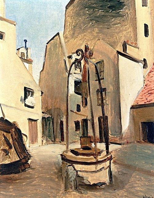 Plaza with Well Andre Derain - circa 1930-1932