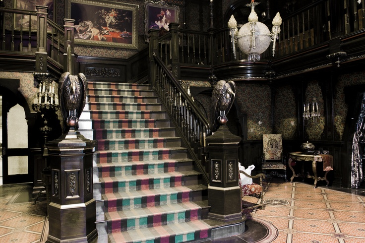 """The Munsters House entrance (remember how the stairs lift?) from the """"Mockingbird Lane"""" pilot in 2012."""
