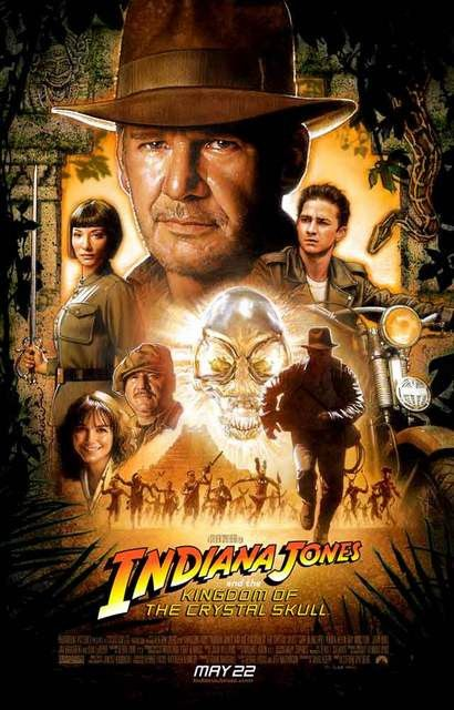 Indiana Jones Kingdom of the Crystal Skull Movie Poster 11x17