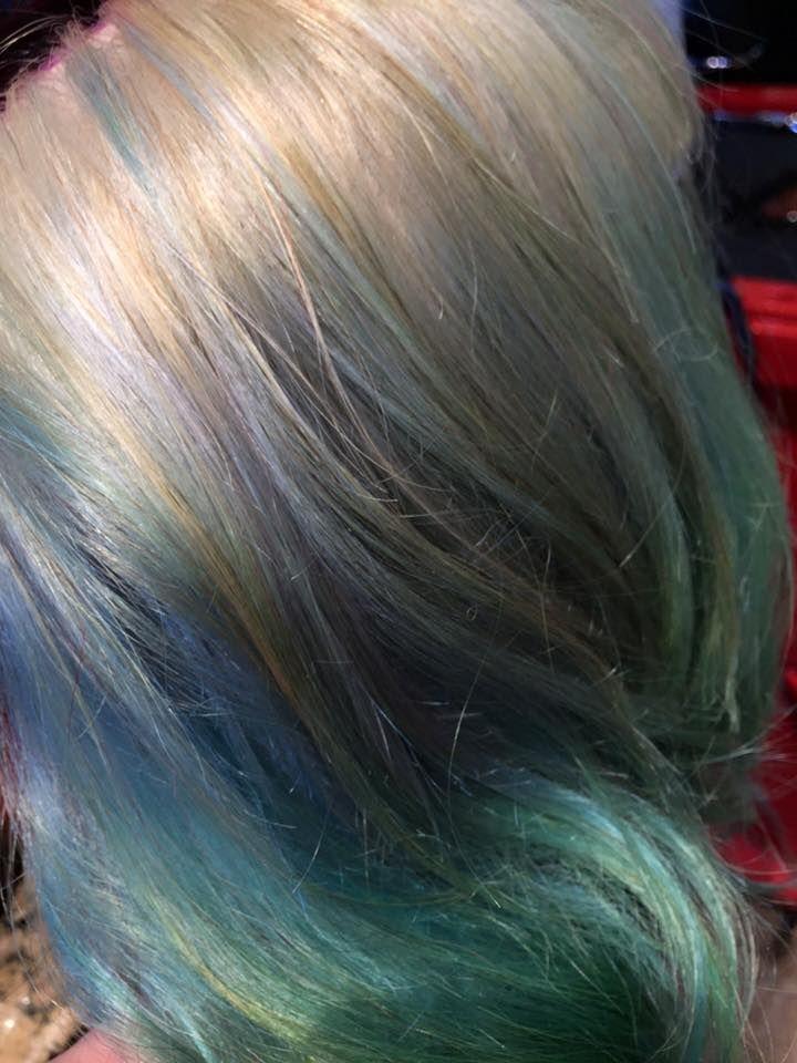 Mermaid hair done by Brianne