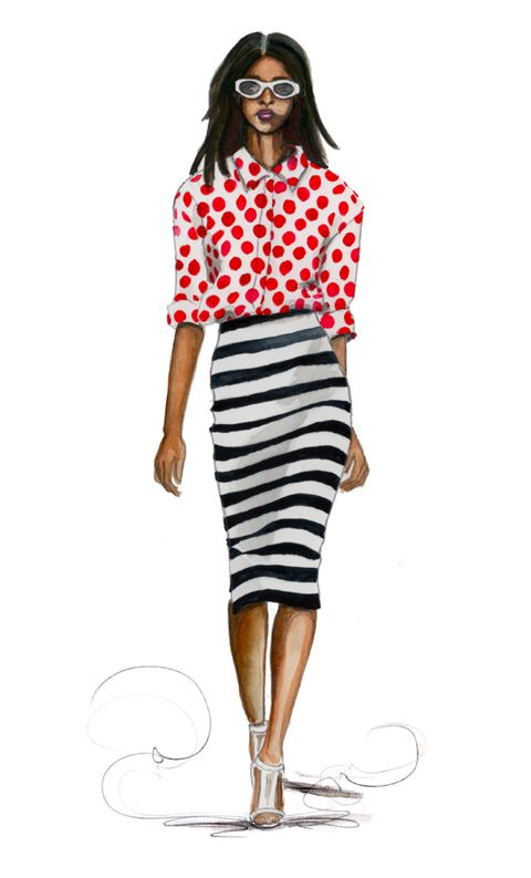 Fashion Illustration in Burberry Prorsum by Longbluestraw