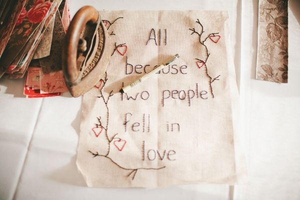 old embroidery.  love.