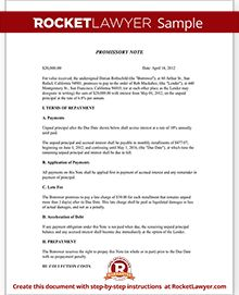 Promissory Note - Create a Free Promissory Note