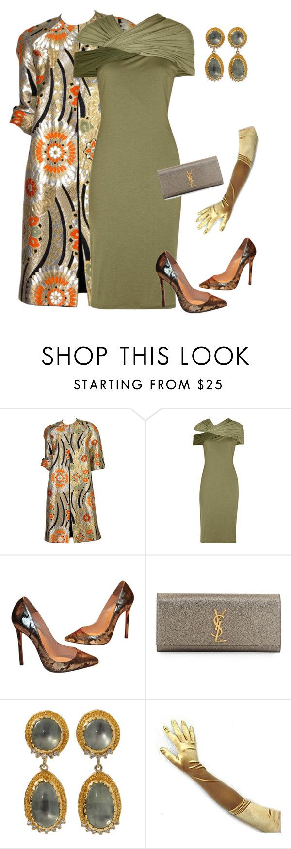 """""""outfit 3573"""" by natalyag ❤ liked on Polyvore featuring Givenchy, Christian Louboutin, Yves Saint Laurent and Victor Velyan"""