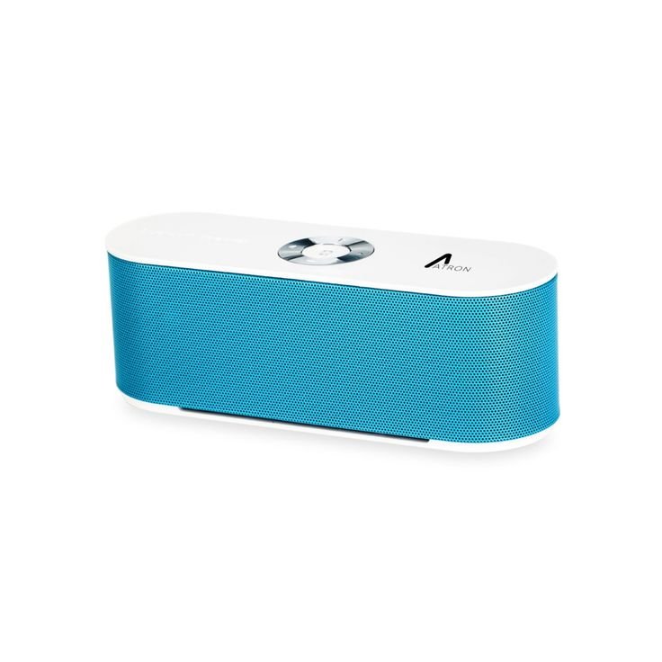 Atron Vision Bluetooth Speaker AGS-B110 (Blue). Supported Profile: Headset (HSP), Hands-Free (HFP), Advanced Audio Distribution (A2DP), Audio/Video Remote Control (AVRCP). Battery Capacity: 1,800 mAh. Frequency Range: 2.4 - 2.48 GHz. Speaker Output: 3 W x 3 W. Microphone Sensitive: -40 db.