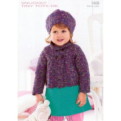 Beret and Double Breasted Jacket in Sirdar Snuggly Tiny Tots DK - 1408