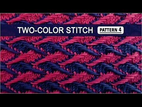 """Two-color Stitch Pattern #4 - Click on """"Show More"""" for written directions. The difficulty looks to be in staying on track with the pattern."""