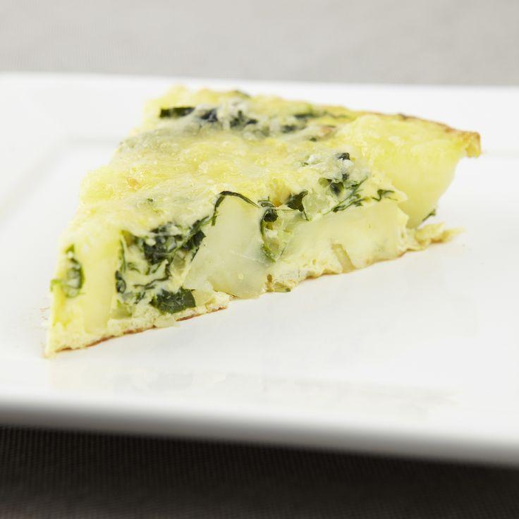 Aardappelfrittata met italiaanse kaas en salie