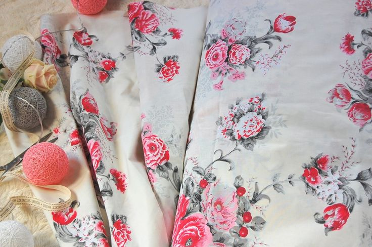 Tkanina bawełniana róże  Fabrics roses